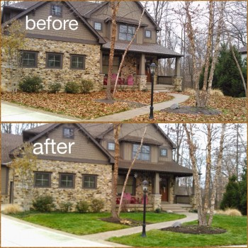Leaf Removal Services Fishers By A Classic Cut A