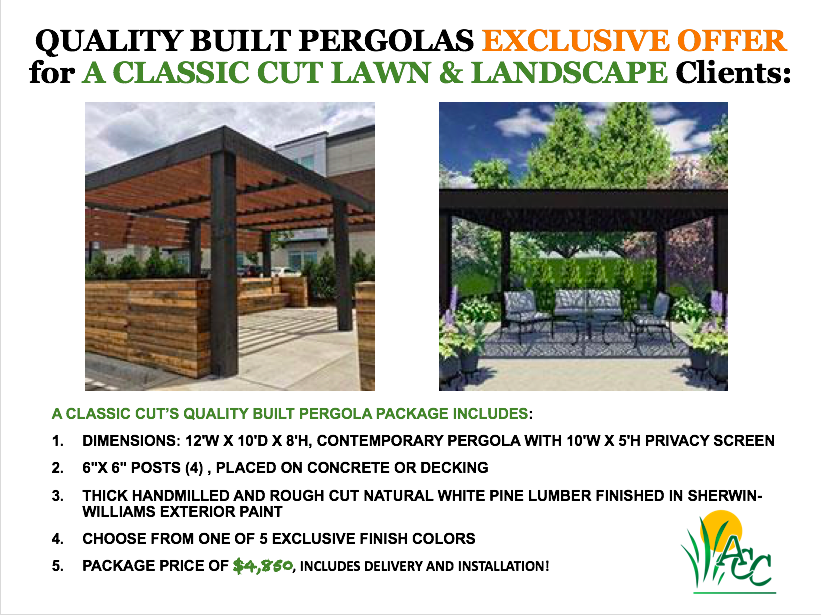 ACCLC Pergola Package Promotion
