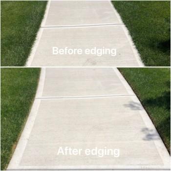 Blade Edging of Sidewalks